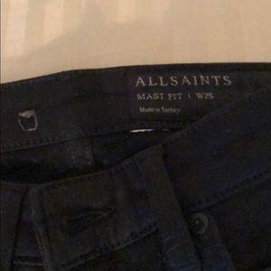 Black All Saints Jeans, never worn!